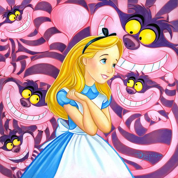 Disney Fine Art ディズニーファインアート ふしぎの国のアリス 限定 レア Cheshire Way ディズニーグッズの画像