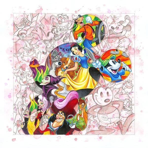 Disney Fine Art ディズニーファインアート 白雪姫 ピーターパン ミッキー グーフィー マレフィセント 限定 レア ディズニーグッズの画像