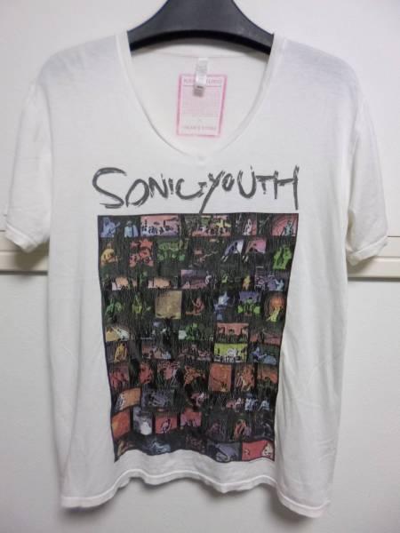 希少 SONIC YOUTH ソニック・ユース Tシャツ S 二ルヴァーナNIRVANAダイナソーJRフレーミングリップスマッドハニーブリーダーズ オルタナ