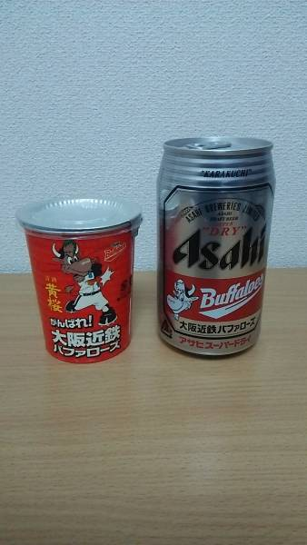 大阪近鉄バファローズ アサヒスーパードライ・清酒黄桜 グッズの画像