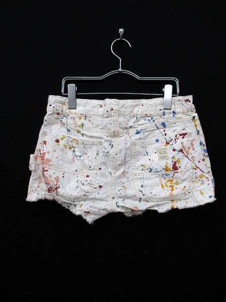 ラルフローレン RALPH LAUREN パンツ ショート デニム プリント 27 白 ホワイト 国内正規品 レディース_画像2