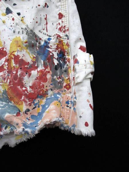 ラルフローレン RALPH LAUREN パンツ ショート デニム プリント 27 白 ホワイト 国内正規品 レディース_画像3