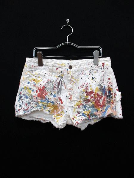 ラルフローレン RALPH LAUREN パンツ ショート デニム プリント 27 白 ホワイト 国内正規品 レディース_画像1