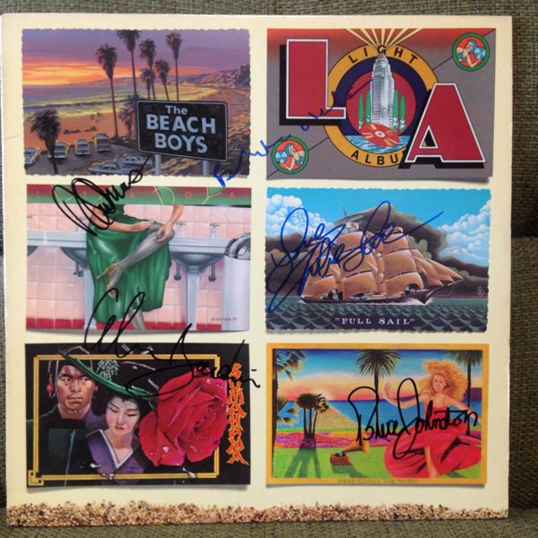 The Beach Boys ザ・ビーチ・ボーイズ直筆サイン入りレコード『L.A.』Brian Wilson, Bruce Johnston, David Marks, Mike Love, al Jardine