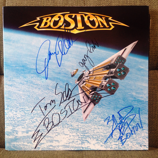 Bostonボストン直筆サイン入りレコード『Third Stage』Brad Delp, Gary Pihl, Jim Masdea, Tom Scholz