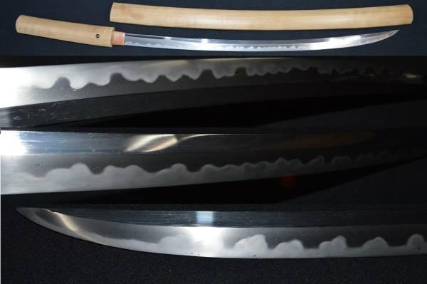 初出し!保存刀剣合格「島田」大珍品・鵜の首造りの長物!豪快な乱れ刃・研ぎ上がり・白