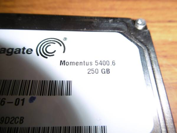 HDD2..5インチハードディスク正常動作品 250GB Seagate CP170946-01_画像2