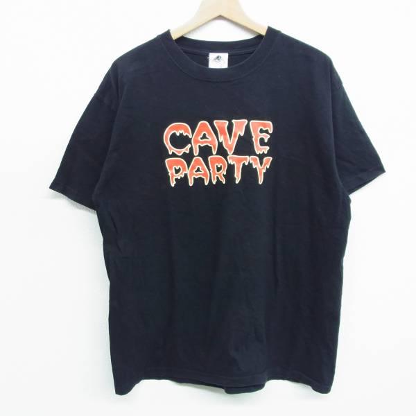 THE CRO-MAGNONS ザ クロマニヨンズ Tシャツ CAVE PARTY 甲本ヒロト 真島昌利 ブラック