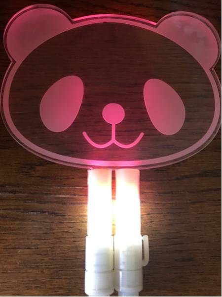 2PM JUN.K ジュンケイ パンダ ペンライト ステッカー付き ファンサイト制作 中古 ソウルコン