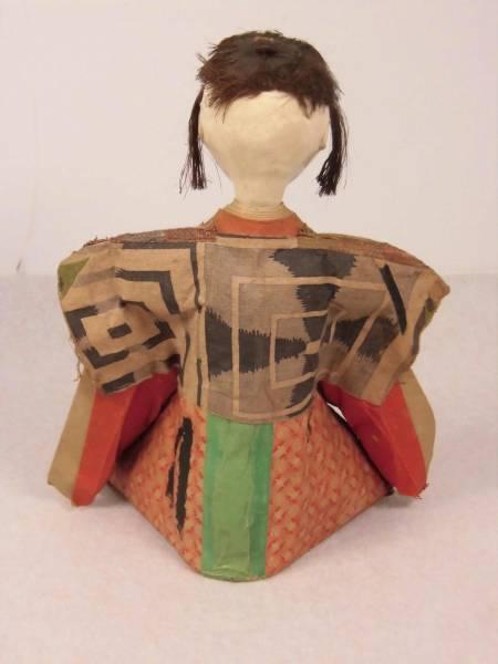 江戸期【古い人形】検)雛人形 三人官女 五人囃子 市松人形 着物 童人形 日本人形_画像2