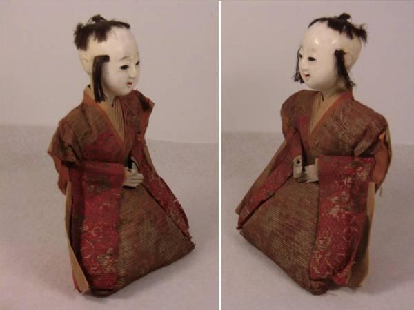 江戸期【古い人形】検)雛人形 三人官女 五人囃子 市松人形 着物 童人形 日本人形_画像3