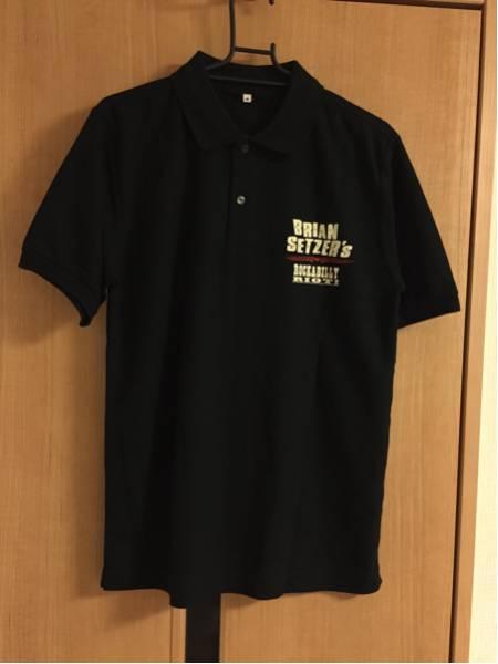 美品 BRIAN SETZER JAPAN TOUR 2012 ROCKABILLY RIOT! ポロシャツ サイズM ブライアンセッツァー ロカビリー