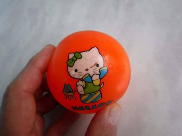 サンリオ古いまんがボールHELLO!!ハローキティ猫レトロ昭和ものオモチャ中古キャラクターものです。_画像2