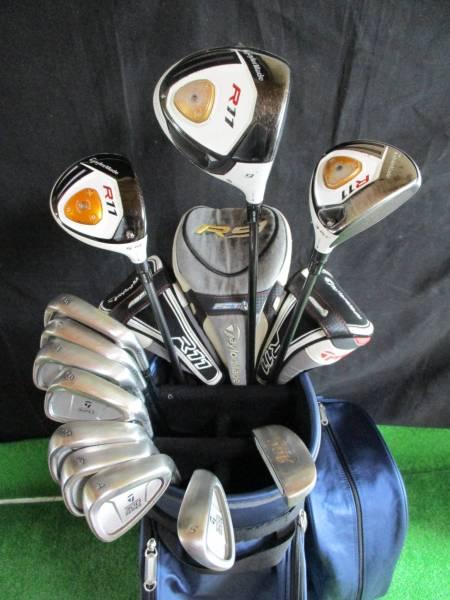 超豪華 テーラーメイド R11 男性用ゴルフクラブ フルセット 美品キャディバッグ付