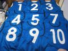 ☆ Lindbergh ゲームビブス ブルー 9枚セット ゼッケン 背番号 ☆
