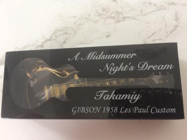 †Takamiy ギター キーホルダー 真夏の夜の夢 ビルボード THE ALFEE ギブソン レスポール†