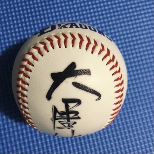 中日ドラゴンズ ロゴ球 名球会 大島康徳 直筆 サインボール ロゴ球 グッズの画像