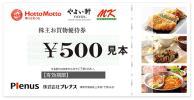 送料無料☆ プレナス 株主優待券 5000円分 (500円×10枚) 2018年5月31日まで