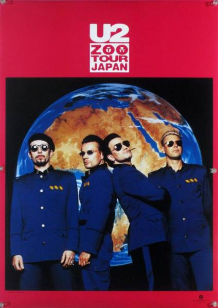 U2 ユートゥー ユーツー ボノ B2ポスター (2P011)