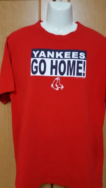 【送料164円】美品 ボストンレッドソックス CSA YANKEES GO HOME! 赤 半袖Tシャツ Lサイズ グッズの画像