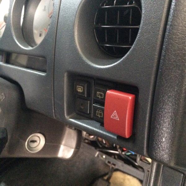 ジムニー JA12/JA22 移設用ハザードスイッチ (コネクター付き)
