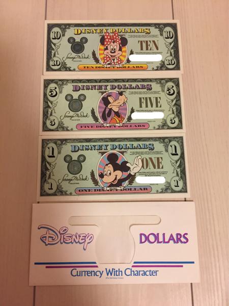 ディズニーダラー ドル札 WDW ミニー グーフィー ミッキー レア ディズニーグッズの画像