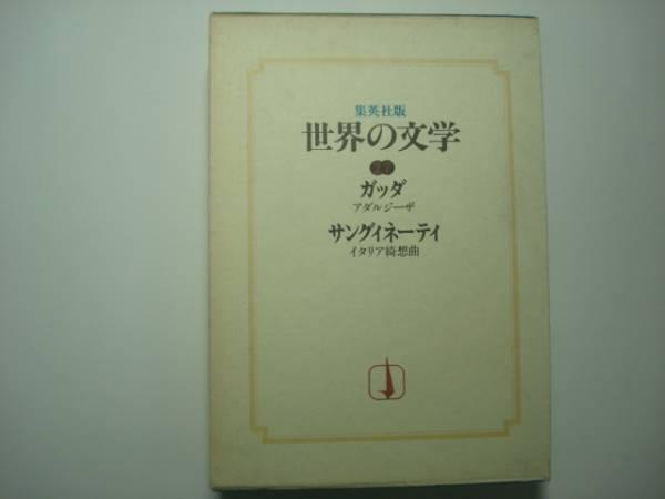 集英社版 世界の文学27 ガッダ サングィネーティ
