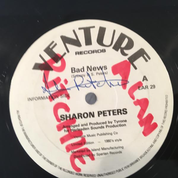 ★Sharon Peters/Bad News★マイナーLOVERS ROCK!_画像1