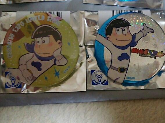 おそ松さん おそ松EXPO LIMITED STORE 池袋 缶バッジ 2種セット カラ松 グッズの画像