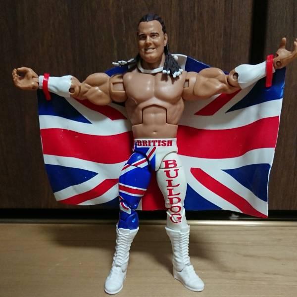 ブリティッシュ・ブルドッグ デイビーボーイスミス WWE エリート マテル フィギュア 送料164円 グッズの画像