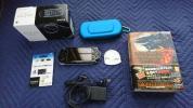 PSP - 3000 PB + モンハン ポータブル3rd 攻略本付き + メモリースティックPRO Duo 4GB,本体専用ケースのおまけ付き