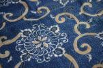 古布古裂 木綿藍染 型染め端切れ 色入り 約3m分