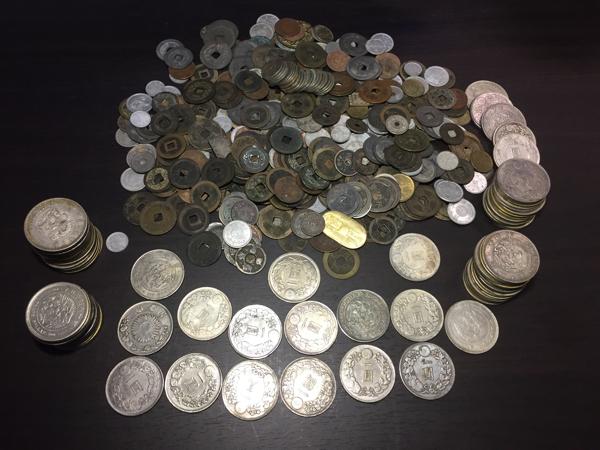 古銭 大量約3kg 寛永通宝、旧硬貨、銀貨等 参考品.