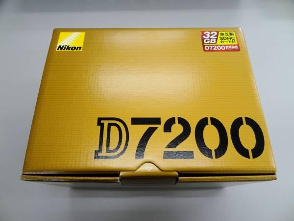 □Nikon D7200 ボディ 使用済・美品 SDカード32GB付