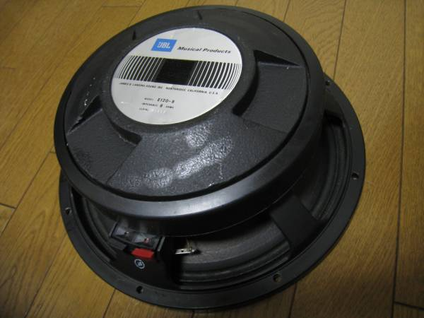 JBL E120 8Ω 中古品 オリジナルコーン 12インチ/30cm 300W