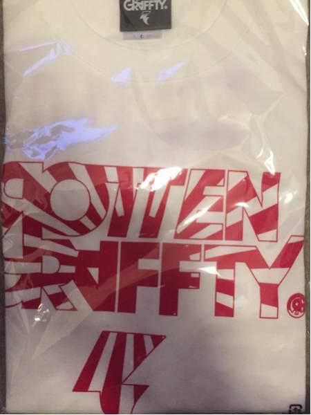 ROTTEN GRAFFTY ロットングラフティー 日章 Tシャツ L ホワイト 白 ロットンの日 ライブグッズの画像