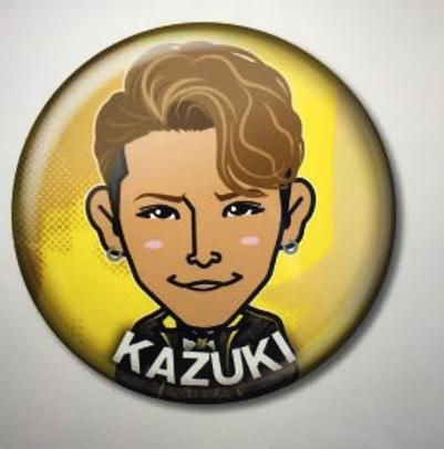 トラステ ガチャ LIVE記念 3thアニバ衣装 DOBERMAN INFINITY KAZUKI 缶バッチ