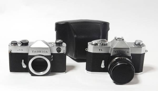 ヤシカ YASHICA J/TLシリーズ1眼レフの2機種 J4、TL  レンズ AUTO YASHINON-DX 50mm F2.0 きれいな動作品