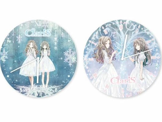 セガ限定 非売品 ClariS ウォールクロック 全2種 Fairy Castle ClariS 1st 武道館コンサート 2つの仮面と失われた太陽 約30cm 壁掛け時計