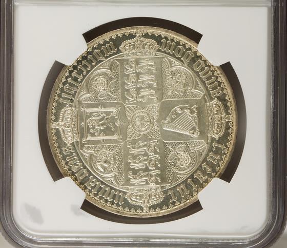 1847年ヴィクトリア・ゴシック・クラウン銀貨 PF62 CAMEO