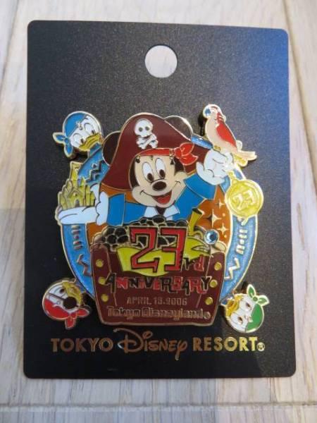 ディズニー リゾート限定 23周年 アニバーサリー ピンバッチ ディズニーグッズの画像