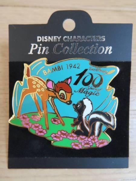 ディズニー ピン 100th  バンビ Bambi 1942年 ディズニーグッズの画像