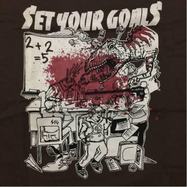 06年 SET YOUR GOALS Tシャツ M 新品 デッドストック gorilla biscuits new found glory year strong comeback kids hit the lights cov