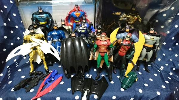 ケナー ハズブロ バットマン ロビン スーパーマン 15体まとめ BATMAN KENNER DCコミック グッズの画像