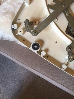 手工品 ガラード用ボルトワッシャー(ドライカーボン製 4個セット)_装着の状況