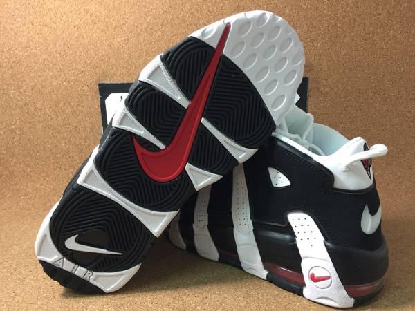 Nike Air More Uptempo White Black エアモアアップテンポ 414962-105 27.5cm_画像2