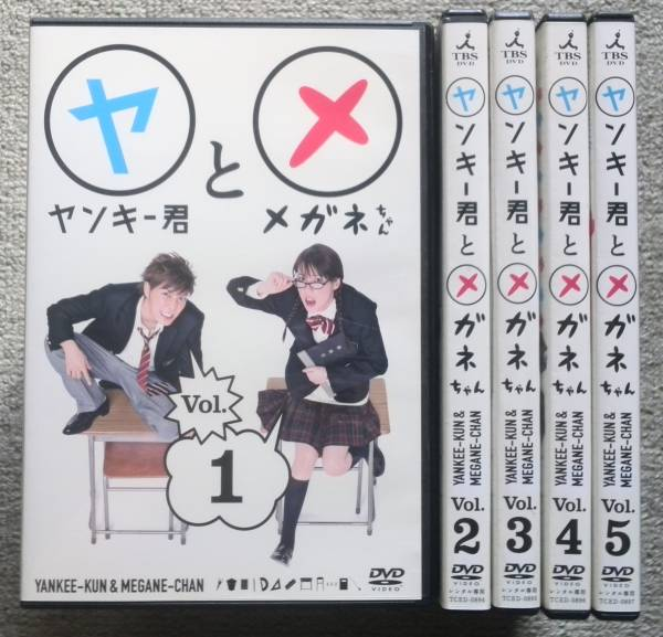 【レンタル版DVD】ヤンキー君とメガネちゃん 全5巻 成宮寛貴 仲里依紗 グッズの画像