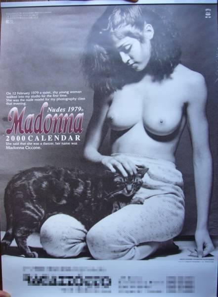 ★未使用保管★マドンナ ヌード 1979 Madonna Nudes 1979 2000年カレンダー★ ライブグッズの画像