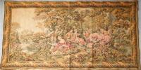 ◆豪華♪特大サイズ クラシカルなゴブラン織りタペストリー 168×85cm 貴婦人 貴公子 宮廷 ラグ 敷物◆