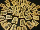初期天竜作(伝統工芸師国井天竜) 手彫り天童楷書 上彫 古木本黄楊 磨き完了